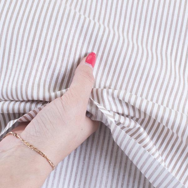 ткани оптом бязь плательная в рулонах полосы кофе