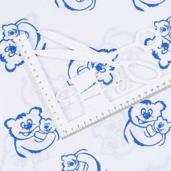 ткань на отрез поплин набивной мишки