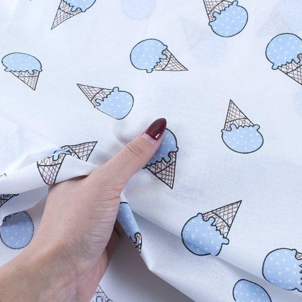 ткани оптом бязь плательная в рулонах мороженое голубой