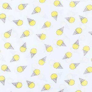 ткани оптом бязь плательная в рулонах мороженое желтый