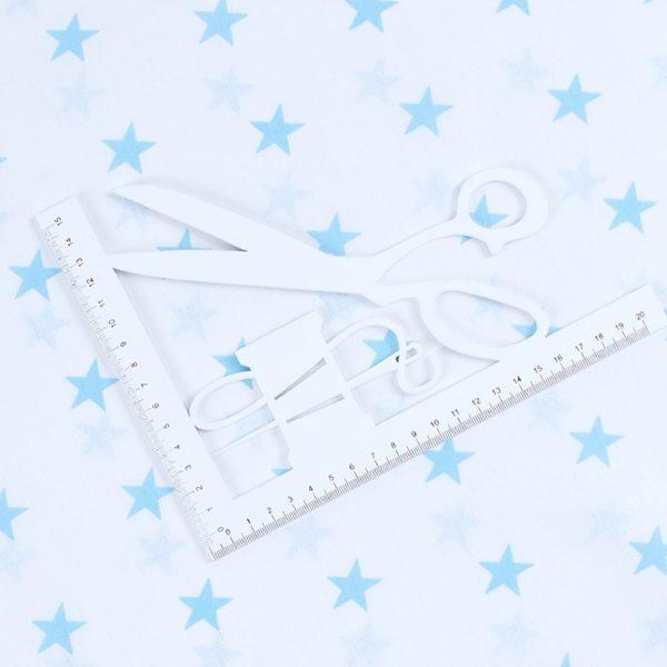 ткань на отрез бязь плательная звезды