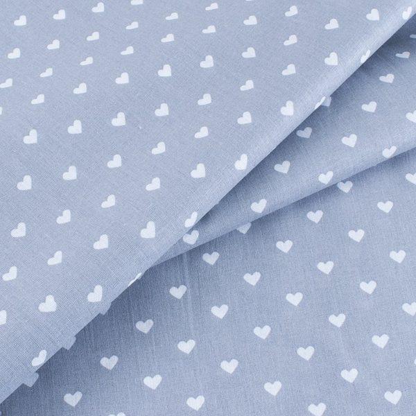 ткани оптом бязь плательная в рулонах сердечки серый