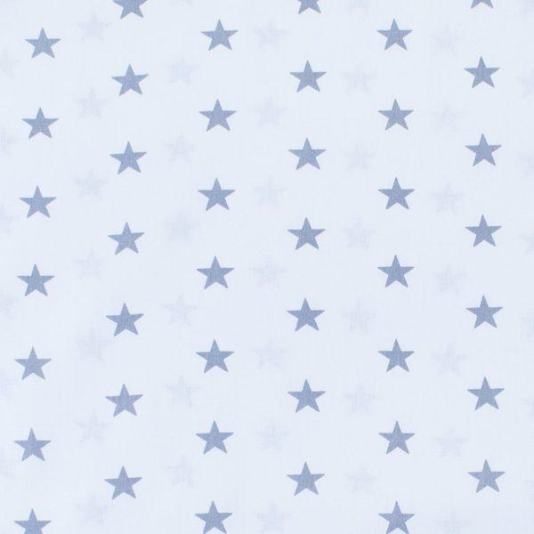 ткани оптом бязь плательная в рулонах звезды на белом серый