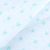 ткани оптом бязь плательная в рулонах звезды на белом мята