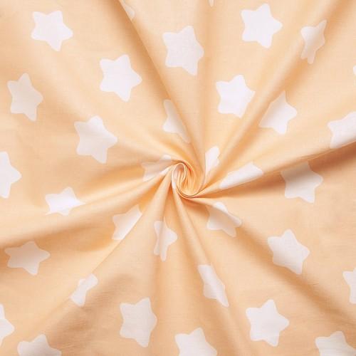 ткани оптом бязь плательная в рулонах прянички персик