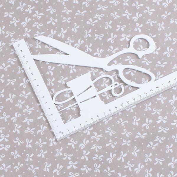 ткань бязь плательная на отрез в розницу бантики