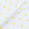 ткани оптом бязь плательная в рулонах звезды на белом желтый