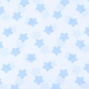 ткани оптом бязь плательная в рулонах прянички голубой