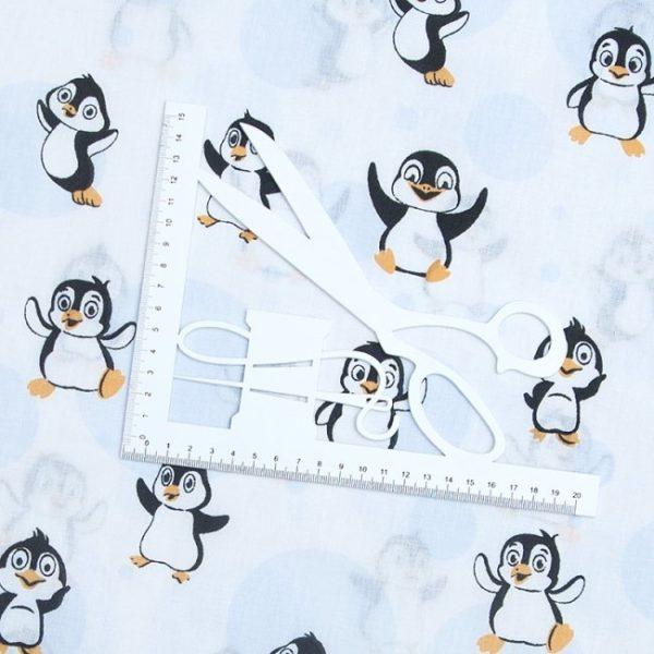 купить ткань бязь на отрез в розницу Веселый пингвин