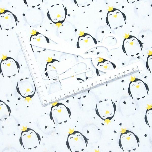 купить ткань бязь на отрез в розницу Королевский пингвин