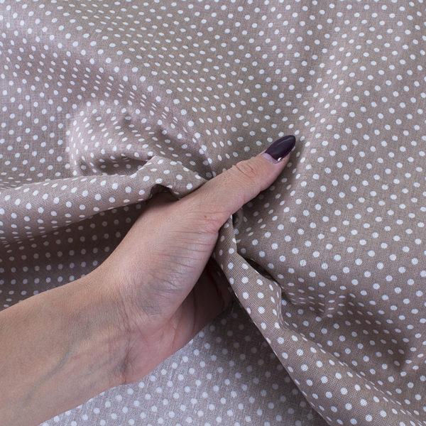 ткани оптом бязь плательная в рулонах горох коричневый