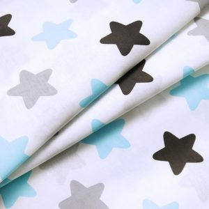 купить ткань поплин оптом прянички голубой