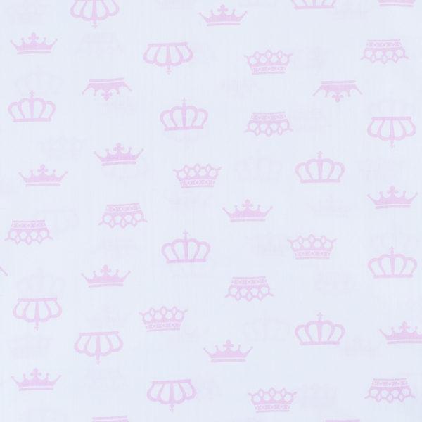 ткани оптом бязь плательная в рулонах короны на белом розовый