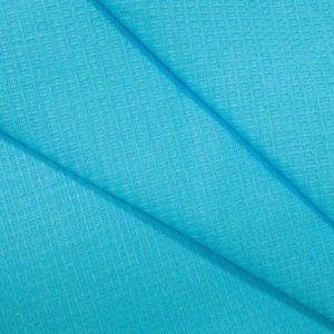 Вафельное полотно гладкокрашенное в рулоне 50 м шир. 150 см Голубой