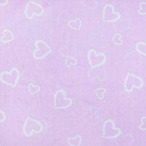купить ткань поплин оптом сердечки Розовый