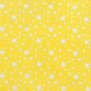 купить ткань поплин оптом мелкие звезды Желтый