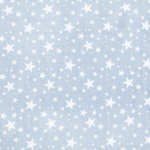 купить ткань поплин оптом мелкие звезды Серый