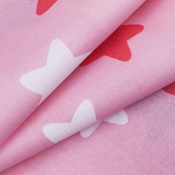 купить ткань поплин оптом прянички Красный