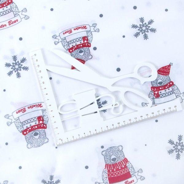 ткань поплин на отрез в розницу новый год