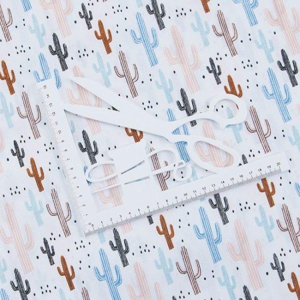 бязь плательная оптом в рулонах Кактусы
