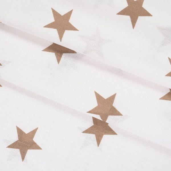 бязь плательная оптом в рулонах Звезды крупные кофе