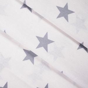 бязь плательная оптом в рулонах Звезды крупные серый