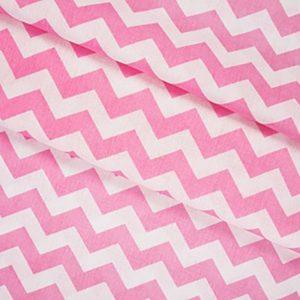 бязь плательная оптом в рулонах Зигзаг цвет розовый