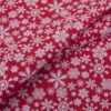 ткань поплин на отрез в розницу снежинка Красный