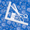 ткань на отрез бязь плательная цветы синий