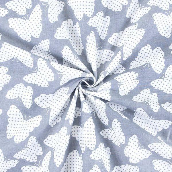 ткани оптом бязь плательная бабочки