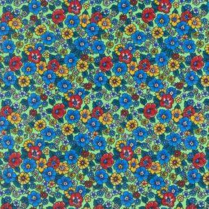 ткань бязь плательная на отрез в розницу цветы