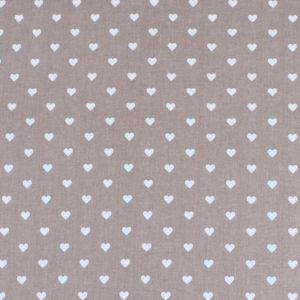 ткани оптом бязь плательная в рулонах сердечки кофе