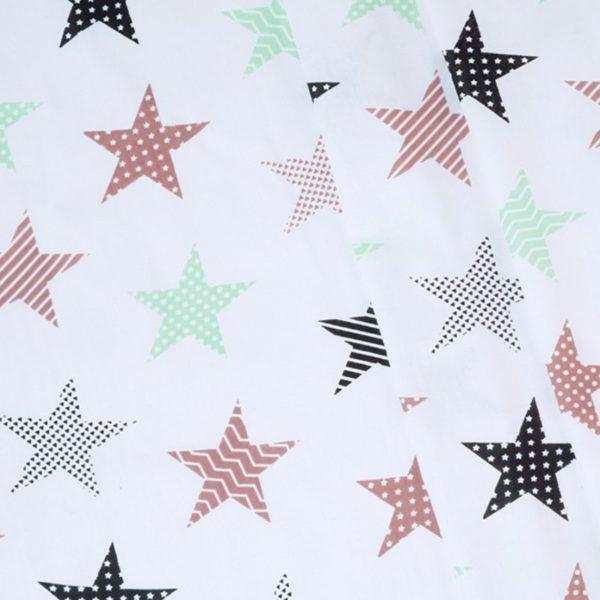 ткани оптом бязь плательная в рулонах звезды