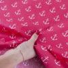 ткани оптом бязь плательная в рулонах якорь красный