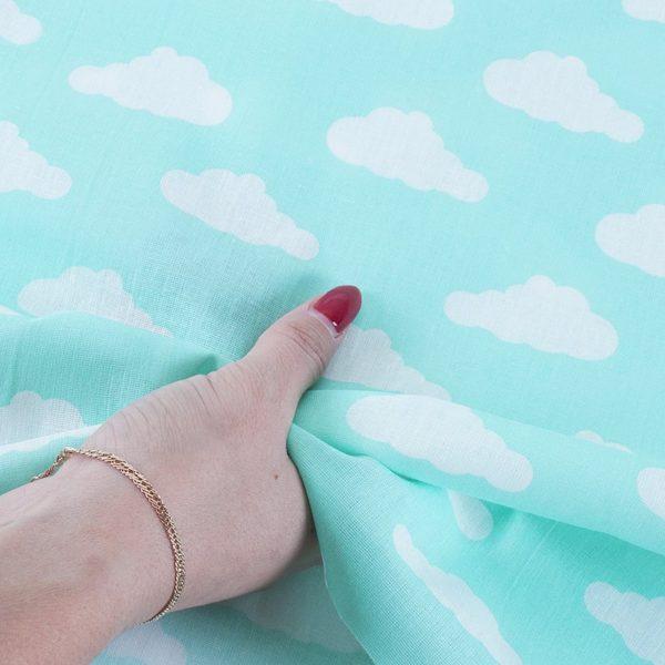 ткани оптом бязь плательная в рулонах облака мята