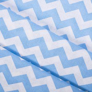 ткани оптом бязь плательная в рулонах зигзаг голубой